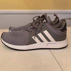 Adidas Boost 029003 gray white tennis shoes 10